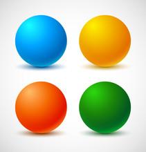 Set Of Colorful Balls. Vector Illustration