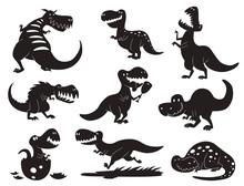 Dinosaurs Vector Dino Silhouet...