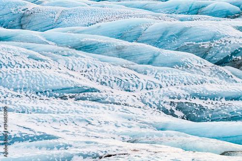 Poster Glaciers vatnajokull glacier frozen on winter season, iceland