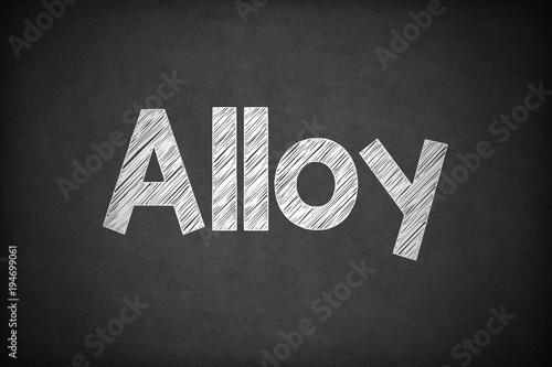 Fotografía  Alloy on Textured Blackboard.