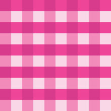Pink Gingham Seamless Vector B...