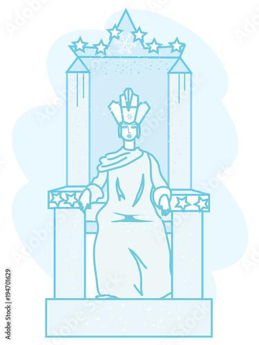 рисунок снежная королева на троне город протяжении всей