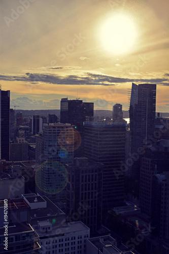 Fotobehang Zwart Vancouver from above