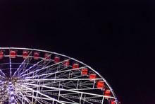 Ferris Wheel On Black Night. E...
