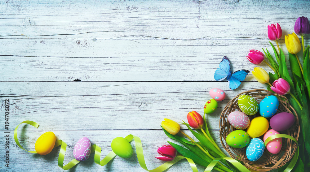 Photo  Easter background