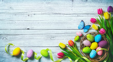 Easter Background. Colorful Sp...