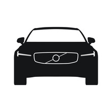 Car Front View With Thor LED Lights Vector Icon
