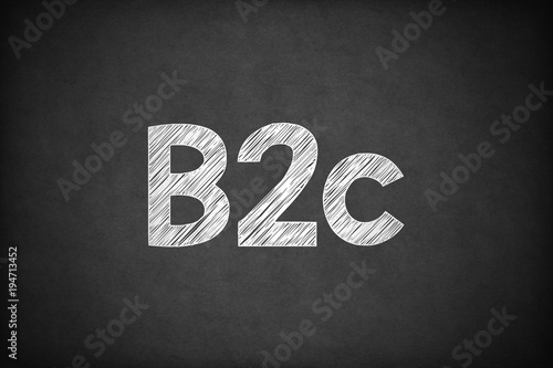 Photo  B2c on Textured Blackboard.