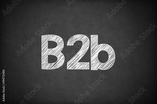 B2b on Textured Blackboard. Canvas Print