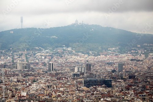 The view of Barcelona from Montjuic fort Poster