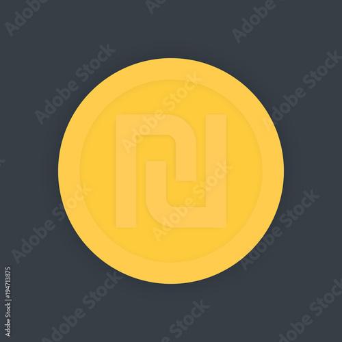 Shekel Israeli Money Symbol Coin Icon Vector Illustration Buy