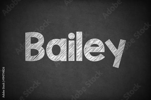 Photo  Bailey on Textured Blackboard.