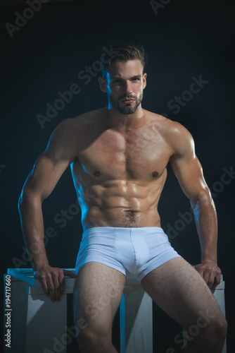 Fashion Portrait Of Sexy Male Fitness Model In Underwear -6655
