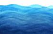 Leinwandbild Motiv Blue sea waves in watercolor