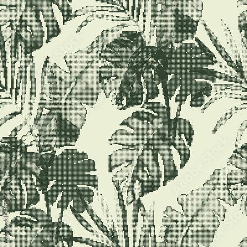 egzotyczny-bezszwowy-wzor-zieleni-tropikalni-liscie-botaniczny-lato-druk-wektorowa-ilustracja