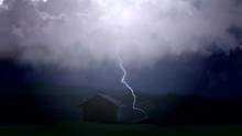 Disastrous Thunderstorm Causes Severe Damage To Farmers Home, Lightning