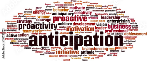 Anticipation word cloud Canvas Print