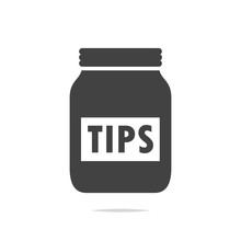 Tip Jar Icon Vector Isolated