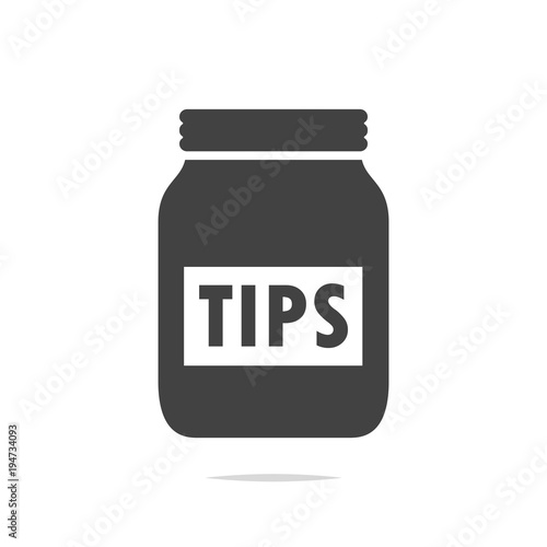 Tip jar icon vector isolated Poster Mural XXL