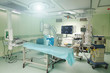A surgical room in a hospital with robotic technology equipment.