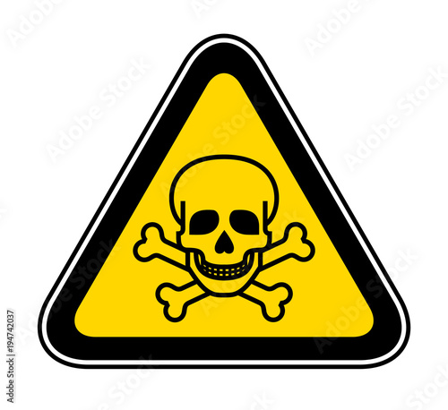 Cuadros en Lienzo Triangular Warning Hazard Symbol