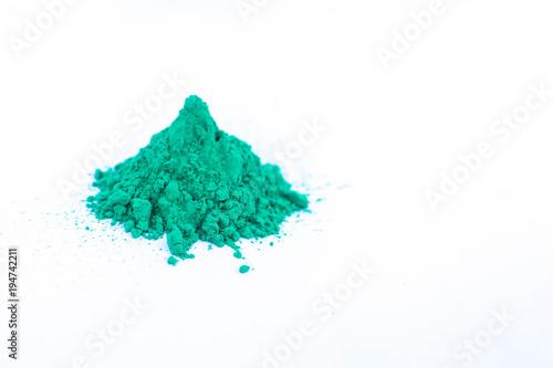 Holi colorful powder green