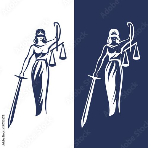 lady justice statue Canvas-taulu