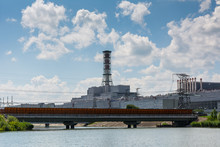 Pond Cooler At Nuclear Power Plant