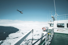 Helicopter Flying Over Ship - ...