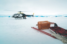 Helicopter On The Sea Ice - An...