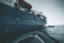 Expedition Vessel In The Storm - Antarctica