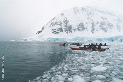 Kayaking in the Ice - Antarctica