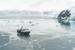 Panorama of Expedition Vessel in the Bay - Antarctica