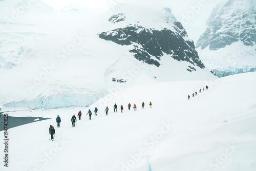 Mountaineers exploring the Glaciers - Antarctica