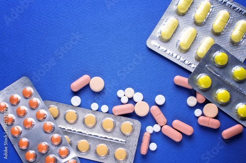 Photo medicine pills in packs