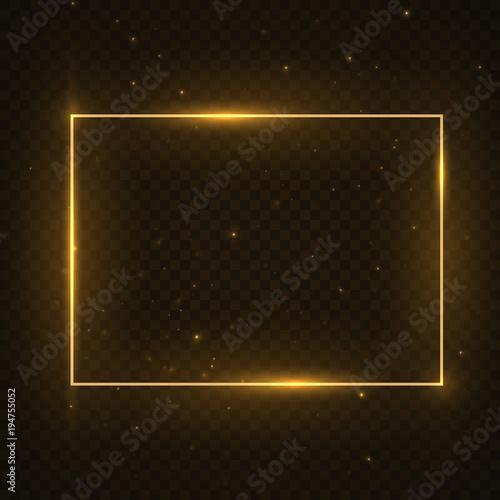 Fotografie, Obraz  Vector glowing magic square frame