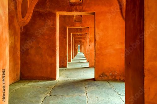 Fotografie, Obraz  Beautiful view of hallway at Taj Mahal in India