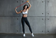 Fit Girl With Jumping Rope