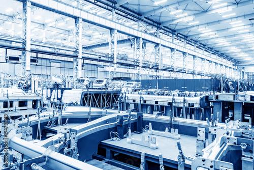 Obraz na płótnie Automobile factory production workshop