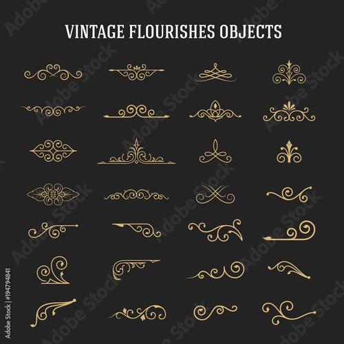 Set of vintage ornamental flourishes Fototapete