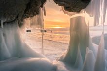 Freezing Ice Cave Beautiful Af...