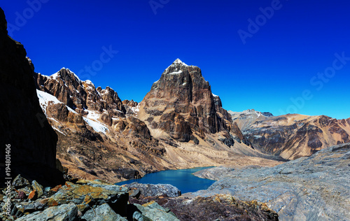 Foto op Canvas Donkerblauw Cordillera