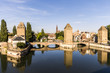 Views of the Ponts Couverts and the Cathedral of Strasbourg from the Barrage Vauban. A World Heritage Site since 1988