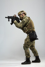 Photo Of Aiming Military Man W...