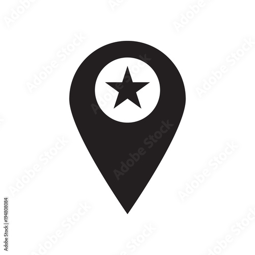 Point star icon vector illustration. Free royalty images. Canvas-taulu