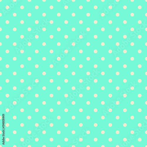 Photo Polka Dot Pattern, Seamless Vector Background
