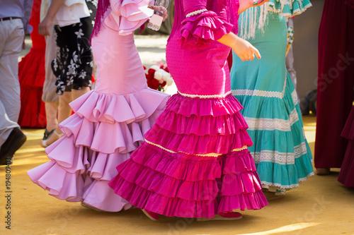 Canvas Prints Fairytale World traditional woman flamenco skirt