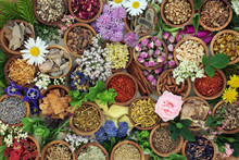Herbal Medicine With Herbs And...