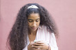 African woman using her mobile phone