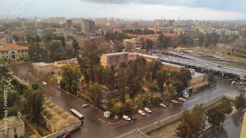 Damascus after rain view